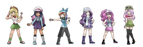 pokemon trainers,mane 6