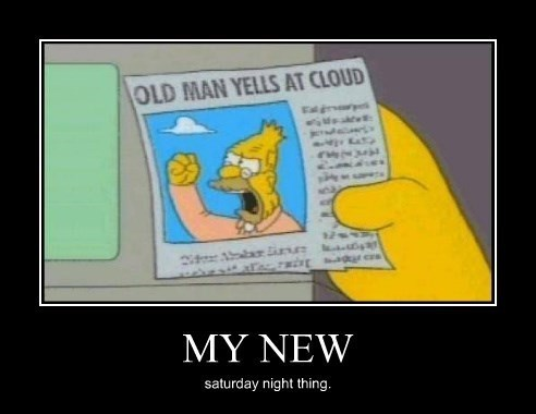 old man,the simpsons,funny,cloud