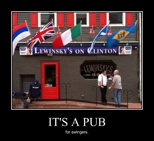 monica lewinsky,pub,funny,bill clinton