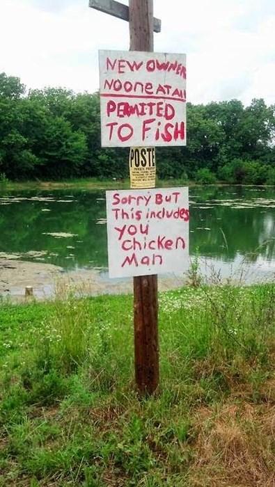 fishing chicken man - 8270380032