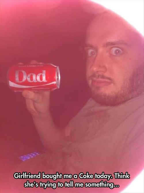 coke,parenting,dad,pregnant,announcement