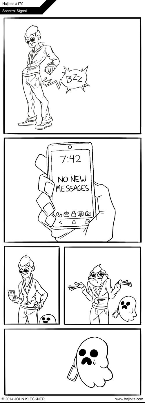 ghosts cell phone web comics - 8270479872