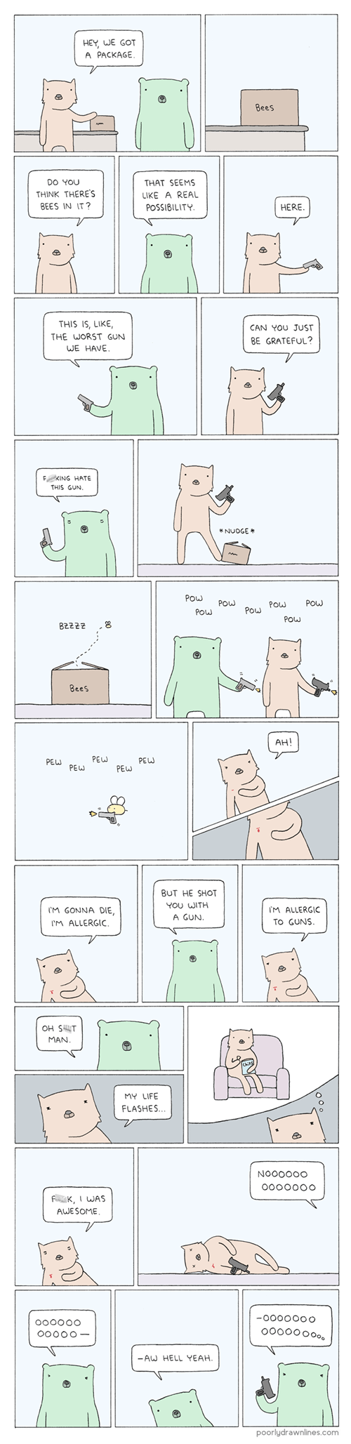 guns bears awesome bees web comics - 8270481920