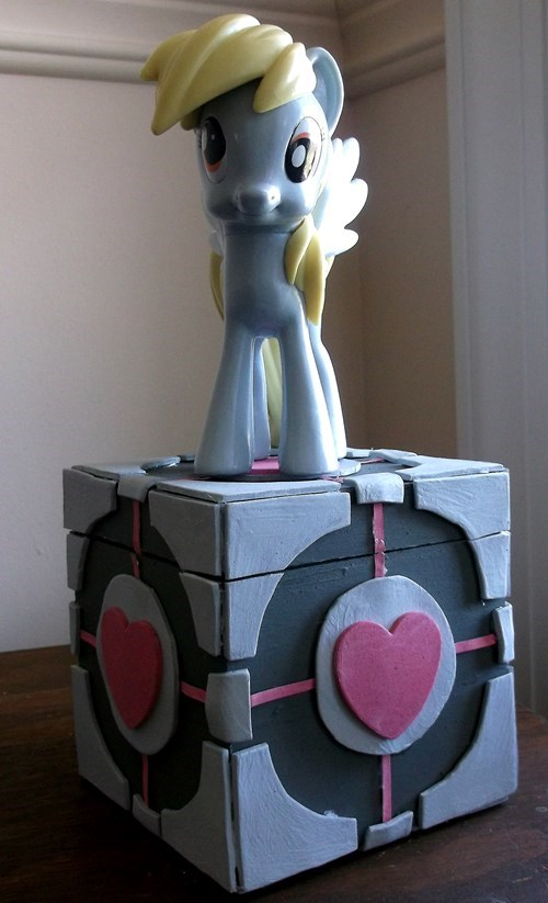 cake is a lie companion cube derpy hooves - 8270527488