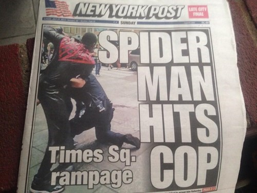 headline,J Jonah Jameson,Spider-Man,newspaper