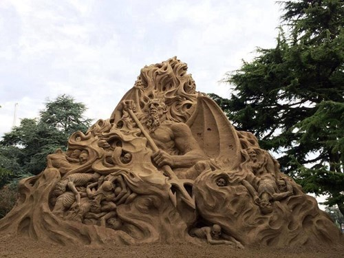 art summer sculpture design beach sand - 8270553600