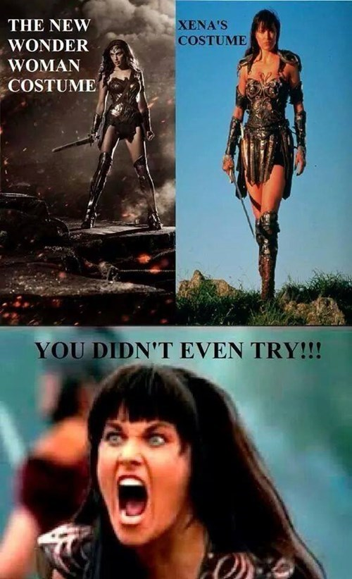 Xena,wonder woman,Batman v Superman