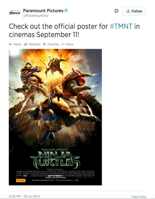 Fans Find the 9/11 Poster Art for TNMT Offensive