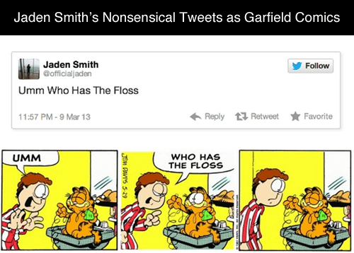 twitter jaden smith garfield comics failbook