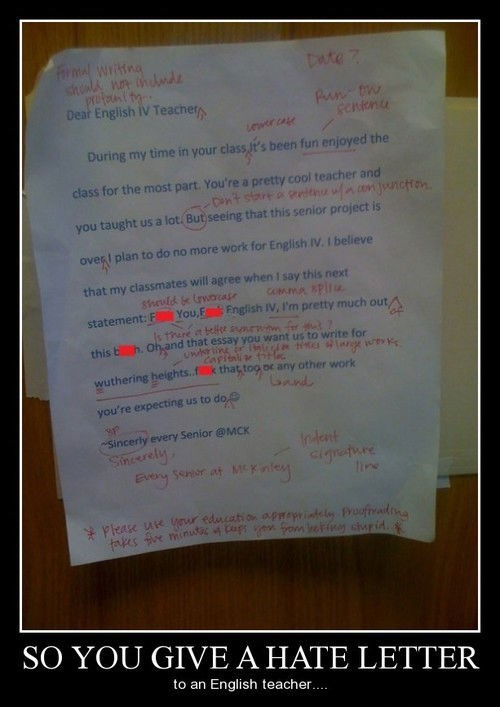 hate grammar nazi wtf english letter funny - 8271403776