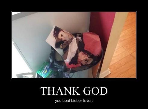 bieber fever trash posters funny justin bieber - 8271407616
