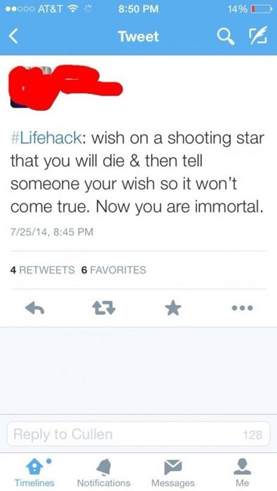 twitter lifehacks immortality