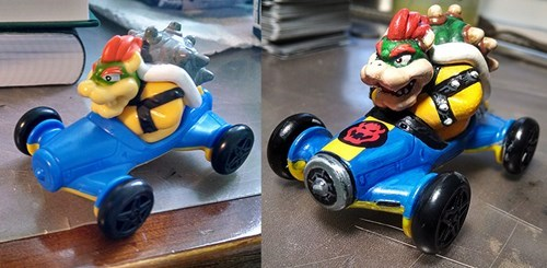 happy meal,toys,Mario Kart,bowser