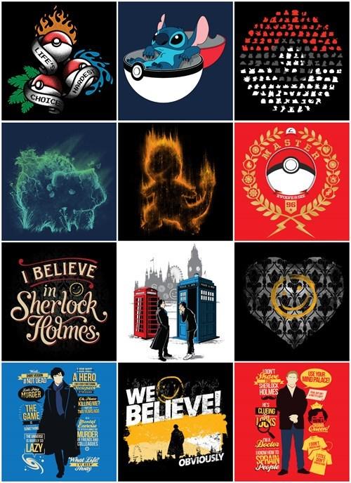 Pokémon tshirts Sherlock