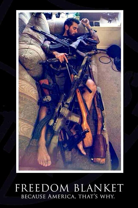 guns,freedom blanket