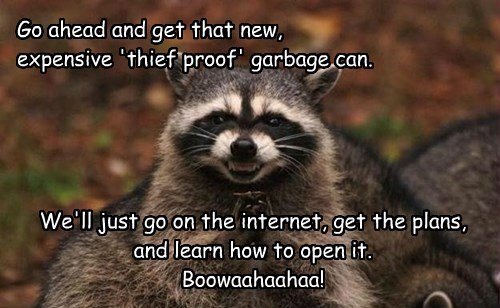 smart,garbage,raccoons