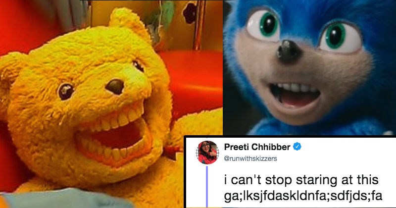 live action sonic the hedgehog with human teeth