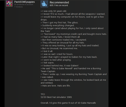 reviews steam hats Team Fortress 2 - 8272422912