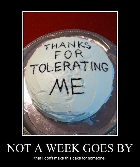 cake,tolerating,friends,funny