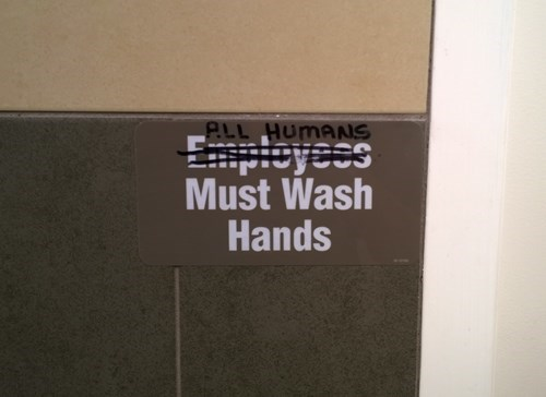 monday thru friday sign bathroom hand washing - 8272709120