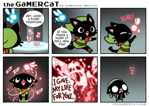 fairies,the gamer cat,zelda,web comics,omg
