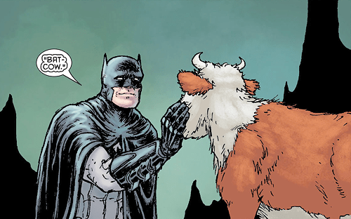 cow Straight off the Page batman - 8272763648