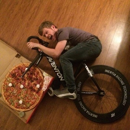 pizza,bike