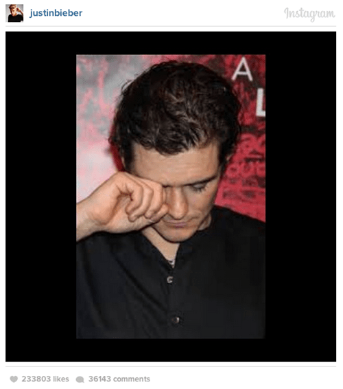 orlando bloom,instagram,fight,Video,justin bieber
