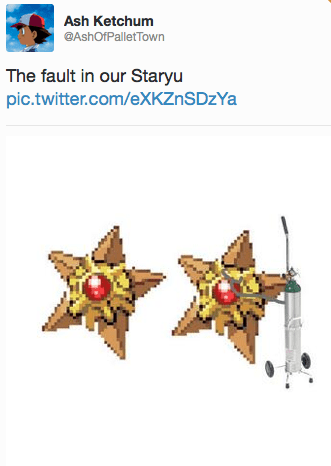 Pokémon,the fault in our stars,TFIOS,staryu
