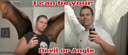 angels,angle,selfie