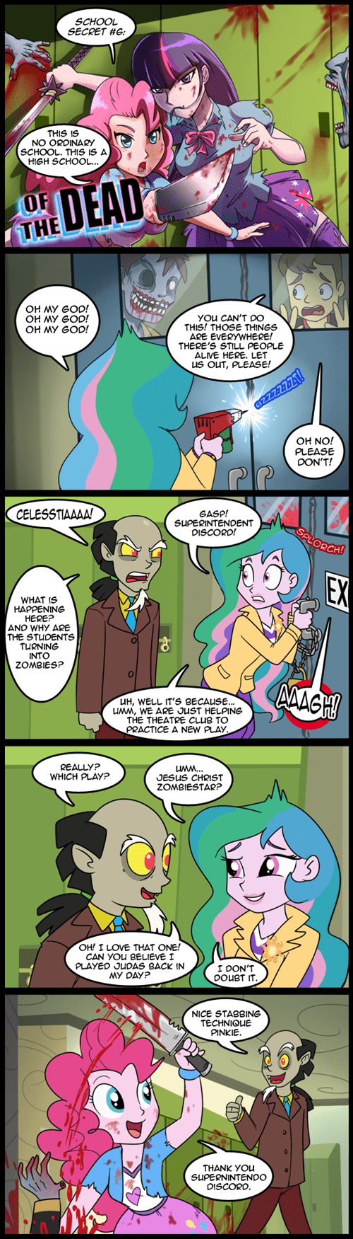 Fan Art,discord,pinkie pie,zombie