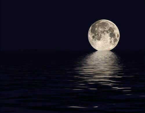 moon,ocean,Photo