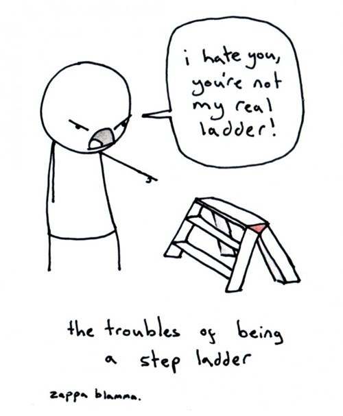 step parents puns ladders web comics - 8273767424