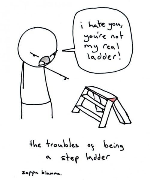 step parents puns ladders web comics - 8273767424