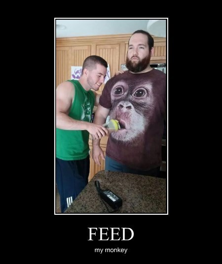 creepy feed me monkey funny - 8273776384