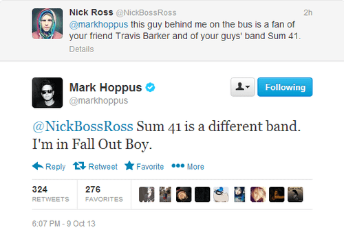 twitter,mark hoppus,sum 41,blink 182,travis barker