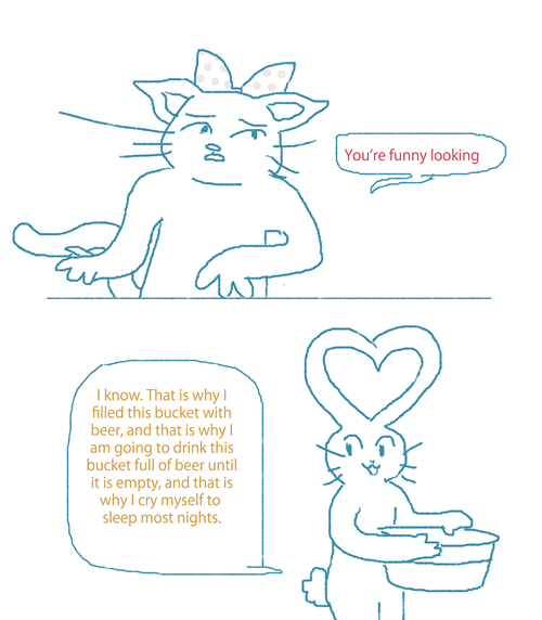 bunnies drinking sad but true relationships web comics - 8273873408