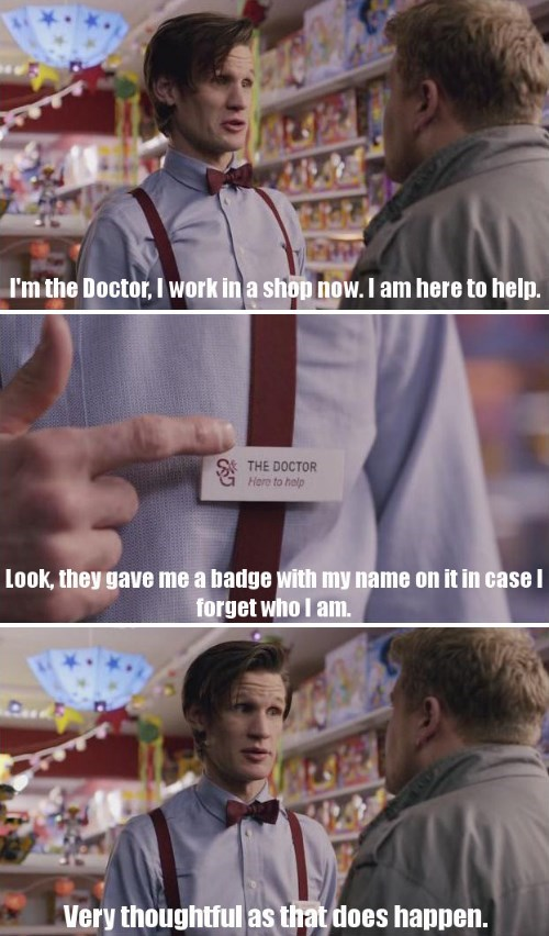 work,11th Doctor,amnesia