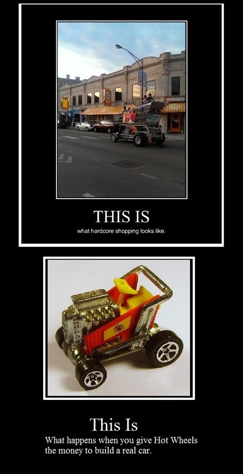 cars,funny,Hot Wheels,shopping cart