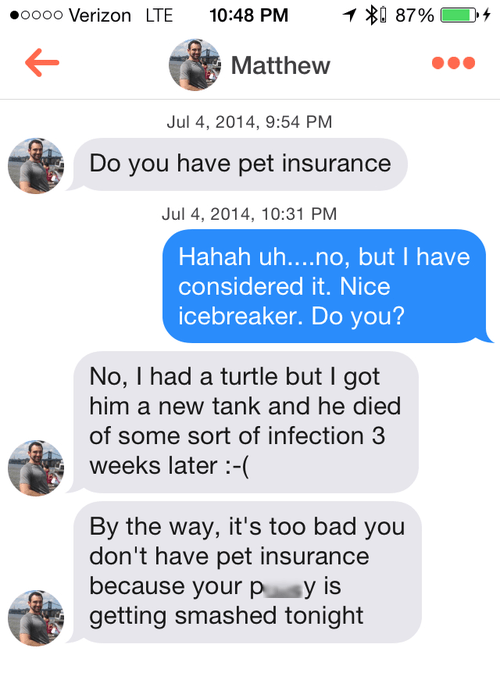funny pickup line pet insurance dating - 8274896128