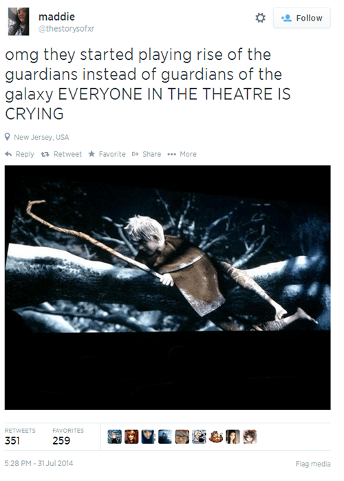 movies guardians of the galaxy whoops twitter