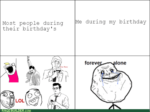 birthday forever alone - 8274937856