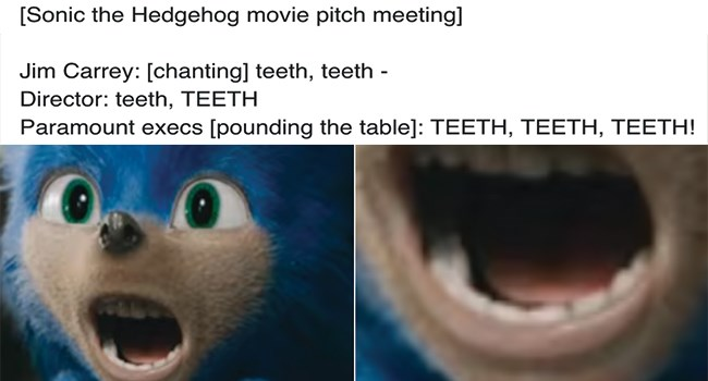 reactions to live action sonic the hedgehog
