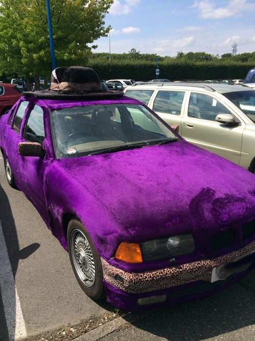 cars hat purple poorly dressed leopard print g rated - 8274970880