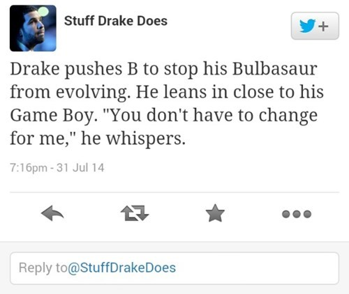Pokémon,twitter,Drake,Butterfree,stuff drake does