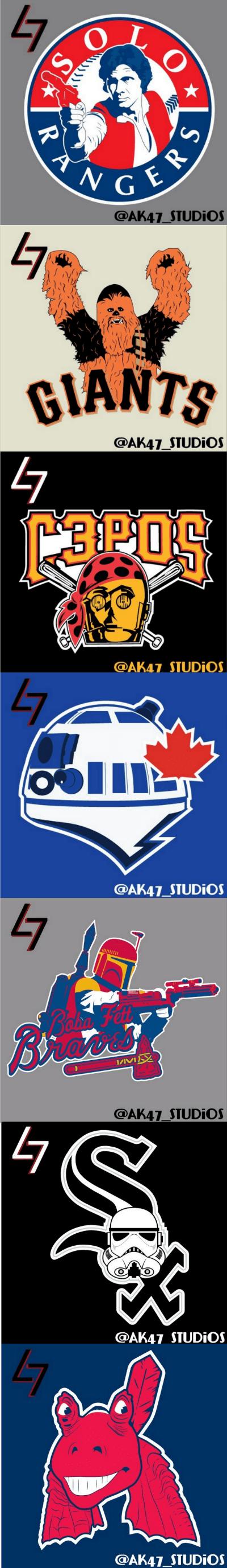 scifi sportsball star wars Fan Art MLB - 8275013120