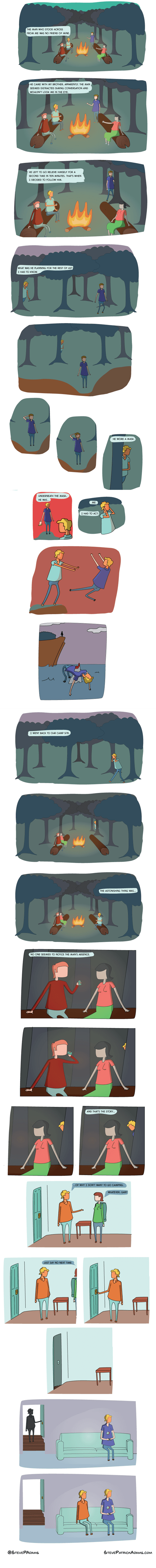wtf,creepy,doppleganger,camping,web comics
