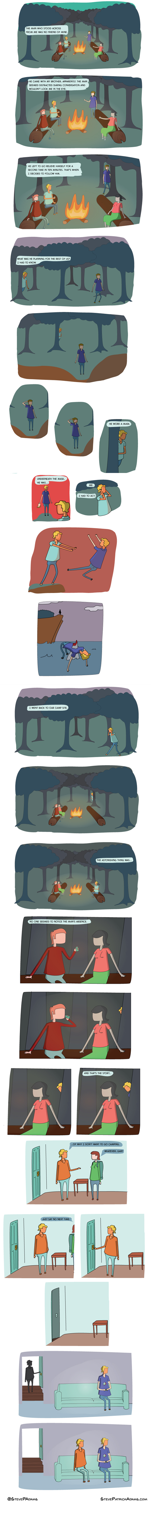 wtf creepy doppleganger camping web comics - 8275080192