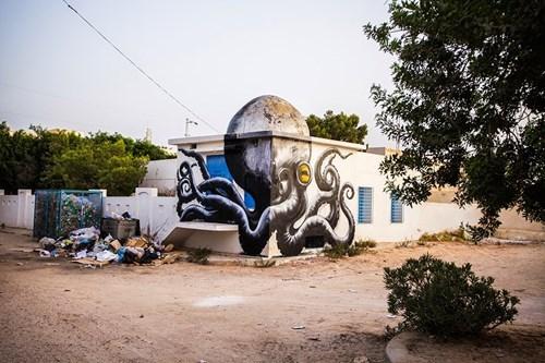 Street Art graffiti octopus hacked irl - 8275247360