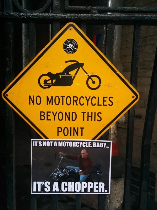 sign,pulp fiction,hacked irl,motorcycle